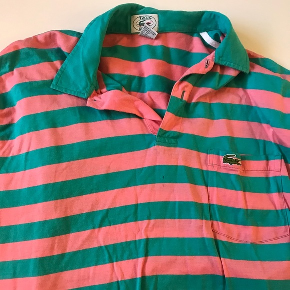 d89f81181 Lacoste Other - Vintage Izod Lacoste Polo Stripes Short Sleeve K5